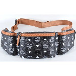 MCM Visetos 3 Pocket Sling Waist Crossbody Bag
